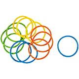 12 Pack Pool Diving Rings for Kids, Multicolored Swimming Pool Toys for Party Game