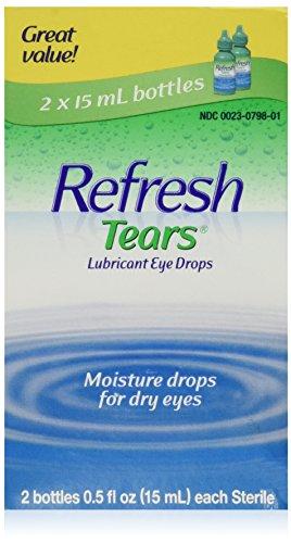 REFRESH TEARS Lubricant Eye Drops 0.5% 15 ml (2 Pack) - Packaging May Vary
