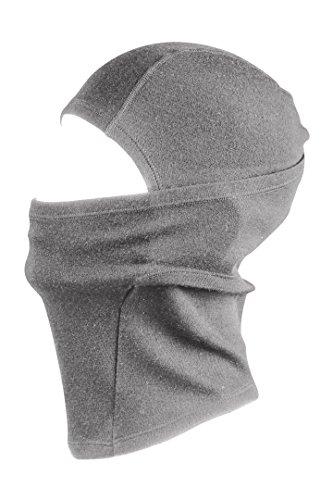 AdventureAustria Merino Wolle Sturmhaube Thermal Gesichtsmaske - 100% Merino mit 230gsm Basisschicht. Warm Atmungsaktiv & Windresistent. Fein gestrickte Balaclava geeignet im Winter & Sommer. (Grau)