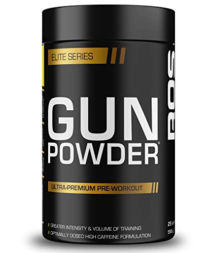 Gunpowder Pre Workout | ROS Nutrition | 550g (25 Servings) | 6g Citrulline Malate, 4g Arginine AKG, 3.5g Beta Alanine, Caffeine (Pineapple)