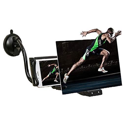 XBSLJ Lupa de Pantalla HD, Amplificador de Pantalla de teléfono Inteligente 3D, Amplificador de teléfono móvil Tableta ampliada, Accesorios de Soporte para teléfono móvil Proyector de 8/12 Pulgadas