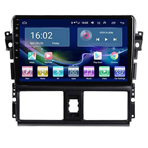 TIANDAO Android Autoradio Radio Doble DIN Sat Nav 2.5D Pantalla táctil Navegador GPS FM Am Reproductor de Control del Volante Adecuado para Toyota VIOS 2014-2016(Color:WiFi 1G+16G)