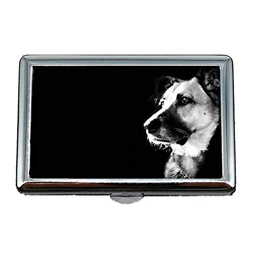 Zigarettenetui (King Size), Bulldog Puppies Hunde Haustiere niedlichen Hund hd, Edelstahl-Kartenhalter