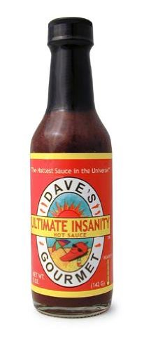 Daves Gourmet Ultimate Insanity Hot Sauce