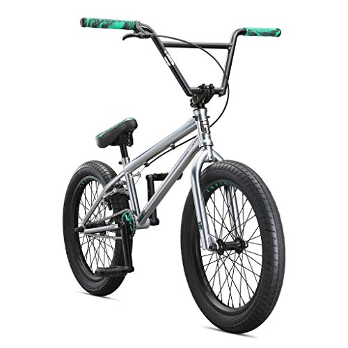 Mongoose Legion L500 Freestyle BMX Bike Line for Beginner-Level to Advanced Riders, Steel Frame, 20-Inch Wheels, Silver