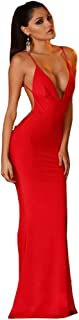 Women Sexy Backless Strap Prom Grown Maxi Dress