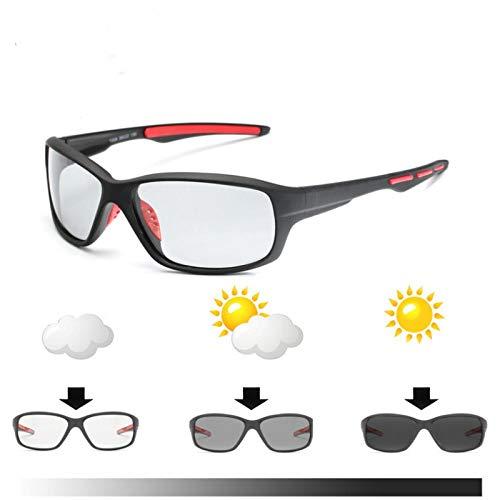 FRGTHYJ Sport Lentes Que cambian de Color Gafas fotocromáticas polarizadas Bicicleta MTB...