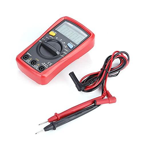 Gugxiom Multímetro Digital, 1999 Cuentas Multímetro Profesional para Cubierta Protectora Suave De 2,2 Mm para Electricista(UT33A +)