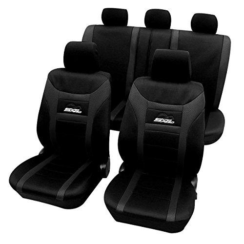 WOLTU AS7259sz Universal Schonbezüge für Auto Sitzbezug Sitzschoner Autositzbezug, Super Speed, Schwarz