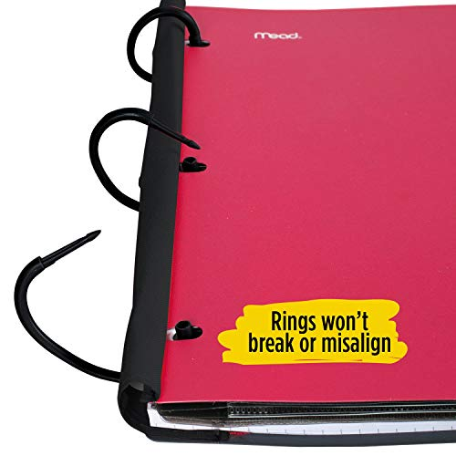 Five Star Flex Hybrid NoteBinder, 1-1/2 Inch Binder with Tabs, Notebook and 3 Ring Binder All-in-One, Assorted Colors, Color Selected for You, 1 Count (29324) Photo #2