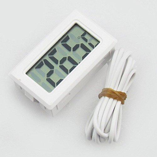 Snel kopen Wit Aquarium Temperatuur Gauge LCD Digitale Thermometer voor Vis Tank