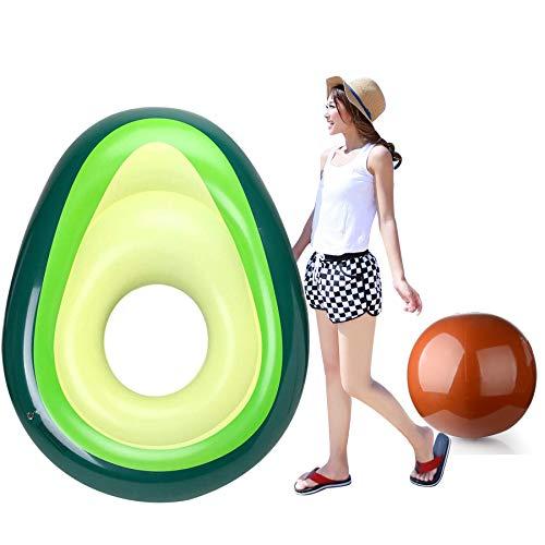 Myir Aufblasbare Avocado Erwachsene, Riesige Wasser Pool Floß Aufblasbare Spielzeug Float Ruhesessel Schwimmen Ring Luftmatratze für Sommer Strand Poolpartys
