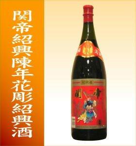 関帝 紹興花彫紹興酒5年1800ml瓶 1箱6本■浜田屋からお届け