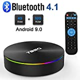 Android 9.0 TV Box, Android Box 4GB RAM 32GB ROM S905X2 Quad-core Cortex-A53 Support 2.4G/5G WiFi/100M/H.265 Decoding/4K Full HD Output/ HDMI3.0/ Bluetooth 4.1 Smart TV Box