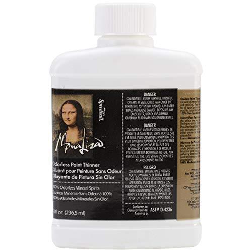 Speedball Art Products 190008 8-Ounce Mona Lisa Odorless Paint Thinner