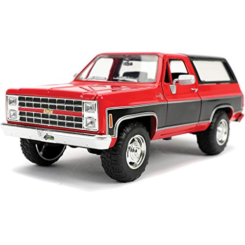 Jada Toys Just Trucks 1:24 1980 Chevrolet Blazer K5 Die-cast Car Red/Black, Toys for Kids and Adults