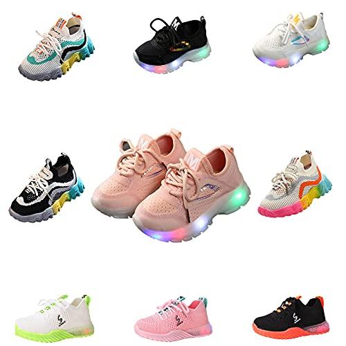 ZZRINIMD Schuhe Leuchtschuhe für Jungen Mädchen LED Mesh Sneaker Bunte Schuhe Kinder Schuhe Licht Led Leuchtende Blinkende Turnschuhe Wander Outdoor Sportschuhe Licht Turnschuhe Leuchtend Süß