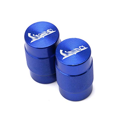 JINBINB / Ajuste para Vespa GTS LT LX Sprint 150 300 250 125 200 200 Motocicleta CNC Aluminio CNC CNC Válvula de neumático Tapas de Tallo Cubiertas herméticas (Color : Blue)