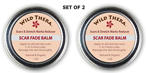 Wild Thera Scar Remover for old scars. Natural Scar Cream for Face, Stretch Marks, Acne scars, Surgery scars and burns. Natural scar gel/ointment for back acne, ingrown hair scars and leg scars