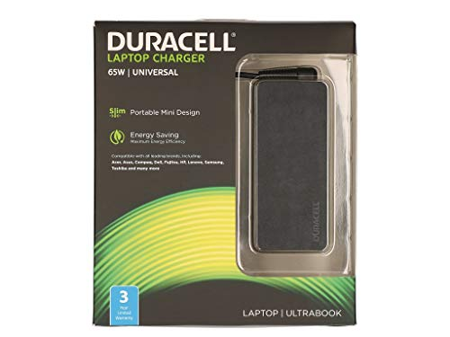 Duracell DRAC6506-UK 65W Universal AC Adapter - With 6 Tips - (Laptops  Laptop Power Adaptors)