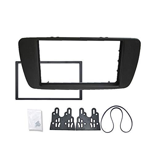 FEELDO voiture 2DIN cd radoub cadre fascia radio DVD pour tableau de bord stéréo seat ibiza panneau cadre de plaque frontale kit de montage (a: 17398mm)