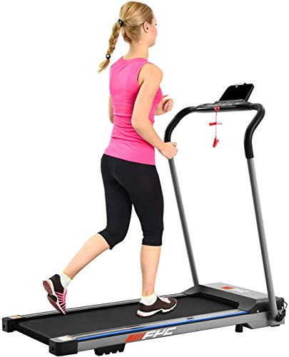FYC Folding Treadmill for Home Portable Electric Treadmill Running Exercise Machine Compact Treadmill Foldable for Home Gym Fitness Workout Jogging Walking, No Installation Required (JK1608E-1)