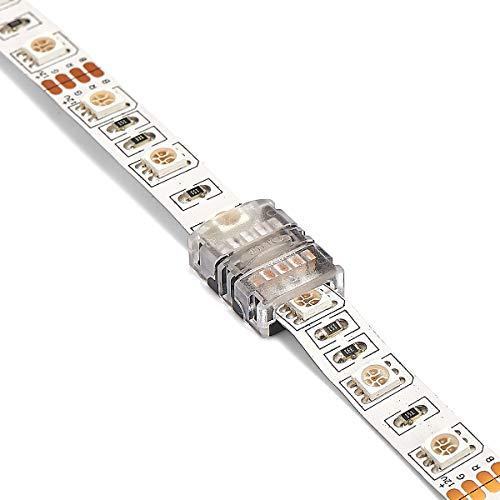 3 stuks professionele RGB LED strips connector - kabelconnector 10mm 4 PIN zonder solderen IP20 innen zu Streifen 10 mm RGB 4 pin