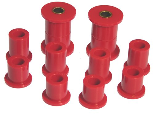Prothane 18-1005 Red Rear Spring Eye and Shackle Bushing Kit