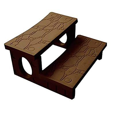 "Pooline Products 11504-Mocha Spa Side Step, 31"" Side to Side, 23"" Front to Back and 16"" Tall, Mocha"