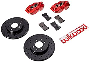 DPHA Front Caliper & Rotor Kit, Drill, Red