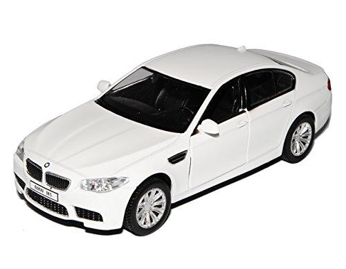 B-M-W 5er M5 F10 Weiss Limousine Ab 2011 1/32 Modellcarsonline Modell Auto mit individiuellem Wunschkennzeichen