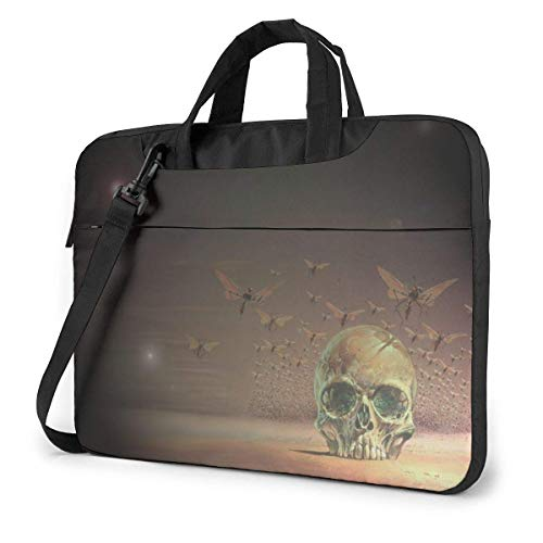Laptop Shoulder Bag Carrying Laptop Case, Skull Butterfly Computer Sleeve Cover, Business Briefcase Protective Bag