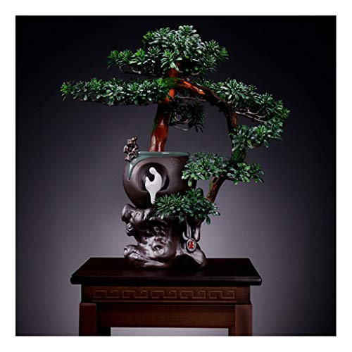 liangzishop Artificial Potted Plants Artificial Tree Bonsai Simulation Tree Outdoor Garden Home Decoration Simulation Tree Fake Potted Plant Height 16.92 Inches Artificial Tree (Color : C)
