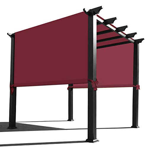 Alion Home Waterproof Pergola Covers - Pergola Replacement Canopy - Universal Replacement Canopy for Pergola (18' L x 8' W, Burgundy Red)