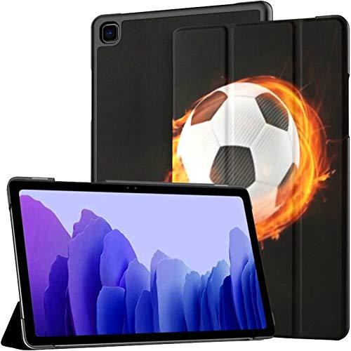 Funda para Tableta Samsung A7 3D Funda de Bola de Fuego de fútbol Flameado Abstracto para Samsung Galaxy Tab A7 10.4 Pulgadas Funda Protectora de liberación 2020 Funda Protectora para Samsung Galaxy
