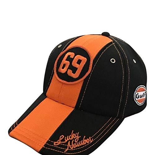 Gulf Vintage 69 Lucky Number Baseball Cap Black/Orange