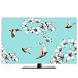 TINGTING Tv Abdeckung Ölgemälde Landschaftsmalerei Nordisch LCD-TV-Staubschutzhülle Stoffbezug Monitorabdeckungen (Color : Tiffany, Size : 40inch)