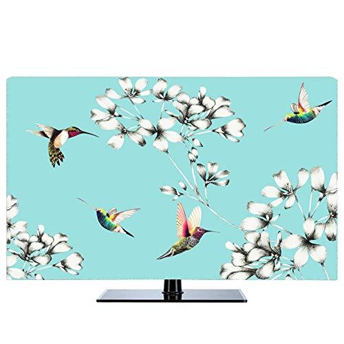 LIUDINGDING-zheyangwang Cubierta de TV Pintura Al Óleo Pintura De Paisaje Nórdico Cubierta De Polvo De TV LCD Cubierta De Tela (Color : Tiffany, Size : 49inch)