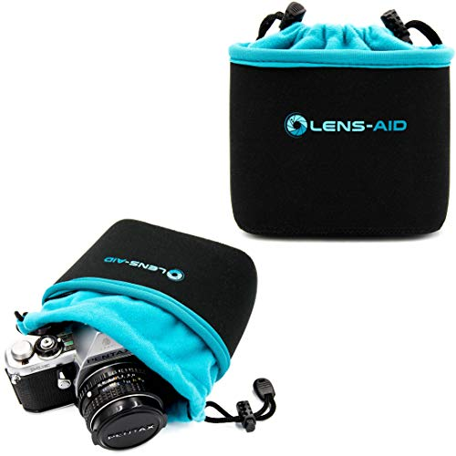 Lens-Aid Neopren Kamerabeutel mit Fütterung zum Schutz der Kamera-Ausrüstung, Kameratasche für Rucksack und Handtasche als Einschlagtuch-Ersatz (S)