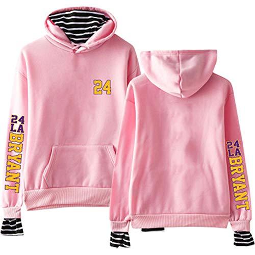 (Fans Sportswear) Wild Trend Herren Damen Hoodie Kobe #24 (Rosa) Alltagstauglich Sports-XXL