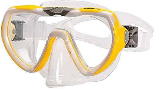 AQUAZON STARFISH Junior Medium gafas de esnórquel, gafas de buceo, gafas de natación, máscara de buceo para niños, jóvenes de 7 a 14 años, vidrio templado, muy robusto, gran ajuste