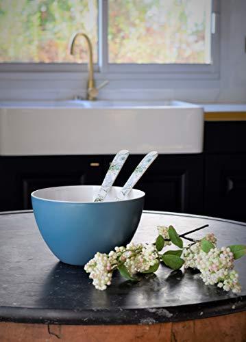 Zak Designs 2400-003 saladier, Bleu Azur/Blanc, Ø22cm