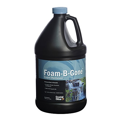 CrystalClear Foam-B-Gone Pond Foam Remover - 1 Gallon Treats Up to 128,000 Gallons