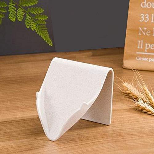 N / A Soporte para jabón Creativo Rejilla de jabón para baño Ducha Soporte para Bandeja de Plato Soporte para Caja de Almacenamiento de jabón sin Perforaciones Bandeja de jabón de plástico 10x9.5CM