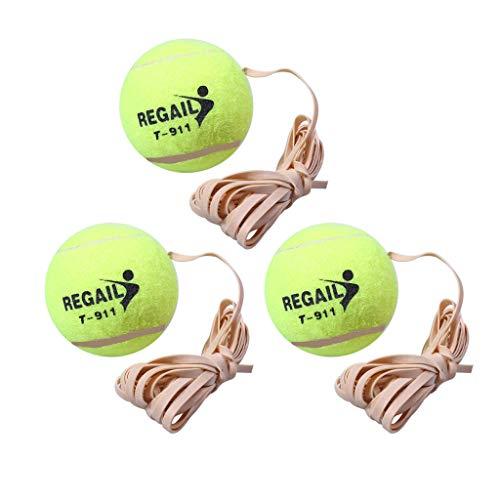 KANGMOON Tennisbälle,Haushalt Single Anfänger Tennis Trainer Zubehör Tennis + Seil (C)