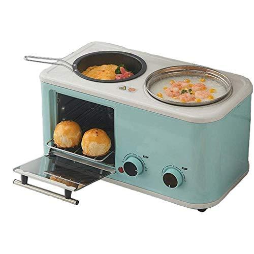 SHUILV Inicio Máquina de Desayuno Máquina de cocción multifunción, Máquina de Pan eléctrico de Horno, Tostadora Tres en uno Electrodomésticos de Cocina Perezosa