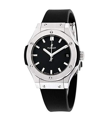 Hublot Classic Fusion quadrante nero gomma nera Mens Watch 581NX1171RX