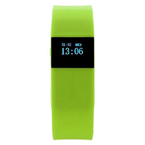 mws Bracciale Smartwatch Bluetooth contapassi Calorie monitoraggio del Sonno di Colore Verde