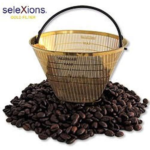 Kaffeefilter Goldfilter Ganzmetall SeleXions GF4M für alle Kaffeemaschinen mit rundem Filter Größe 1 x 4