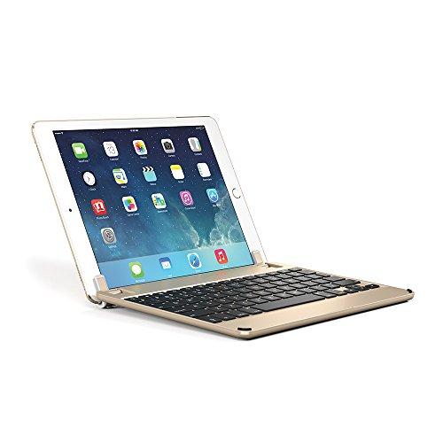 Brydge 9.7, Hochwertige Bluetooth Tastatur aus Aluminium, deutsches Layout QWERTZ, gold
